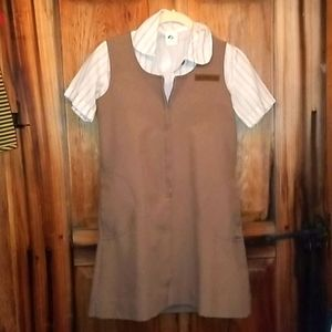 Vintage 70's Girl Scouts Brownie Uniform sz 12